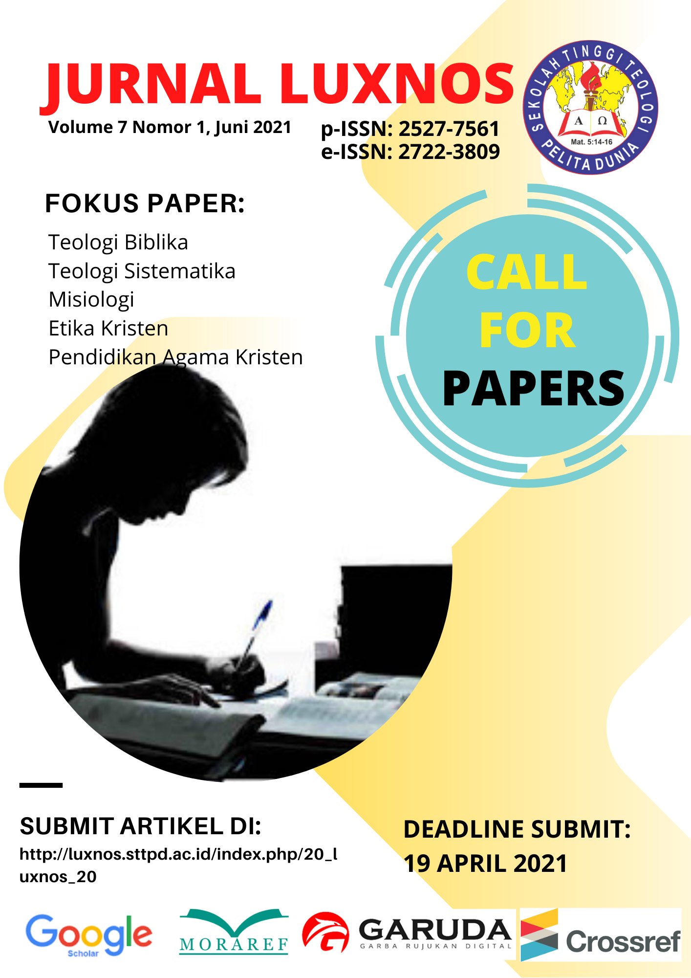CALL FOR PAPERS JURNAL LUXNOS (Volume 7, Nomor 1, Juni ...